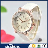 lady leather wrist watch/leather western wrist watch