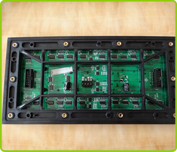 high quality hd led display  p8 outdoor led module size 256x128 mm led display outdoor SMD P8 back description