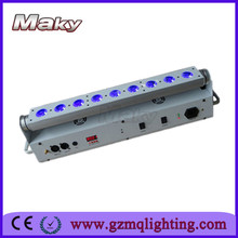 LED wall light rgbwa 5in1 9pcs*15W indoor battery led wall light/move head Wireless Dmx led Wall Washer l