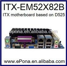 HOT Intel ATOM D525 based Mini ITX motherboard ITX-EM52X82B