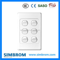 Australian standard Switch 10A 250V with SAA, High quality electronic wall switch and socket