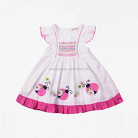cotton smocked kids traditional dresses