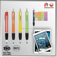 wholesale stationery supplier for promotional ball pen banner with stylus