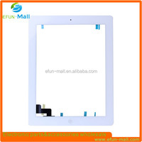 Top quality replacement parts for ipad 2 digitizer touch screen half assembly white color