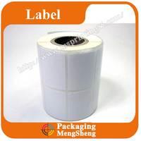 2015 custom blank custom size white vinyl sticker roll for barcode