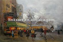 Top quality streetscape oil painting