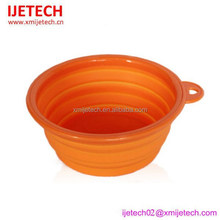 portable impermeable silicone pet bowl for travelling
