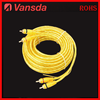 High grade 4male plugs shielded stereo OFC car audio RCA Cable