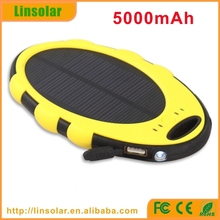 OEM/Private Label Waterproof Solar Charger 5000mAh Mobile Phone Power Bank