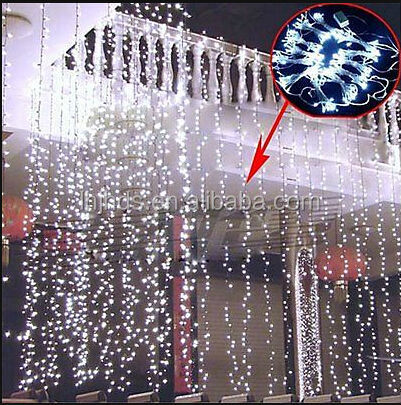 800 led curtain lights string wedding christmas factory wholesale. Black Bedroom Furniture Sets. Home Design Ideas