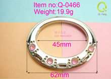 fashion design metal sealing ring metal snap clamp ring with shiny diamond