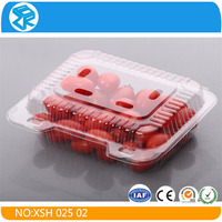 High quality PVC clear Fruit Packaging Boxes Clamshell Food Container