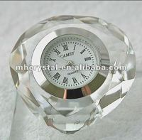 Clear Crystal Heart Diamond Clock MH-C0105