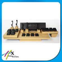 simple natural MDF wooden watch display watch counter case