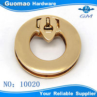 Round shape elegant twist lock bag hardware lock