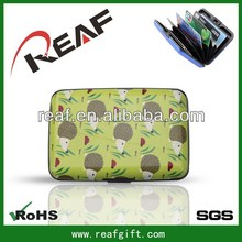 Fashionable hot selling customed hinge clutch card wallet