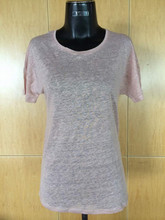 fashion summer linen t-shirt for women