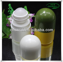 Refillable roll on plastic containers bottle for deodorization liquid