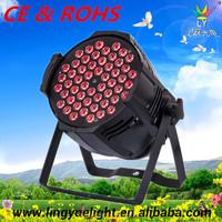 CE ROHS 54x3W rgbw dmx par64 led lighting lamp led stage par light