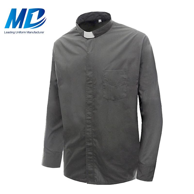 2018 Alibaba оптовая продажа мужской с длинным рукавом духовенства рубашка