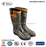 Men waterproof Mid Camo Hunting Rubber Boots