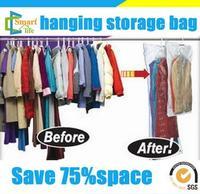 High quality plastic vaccum seal storage bags space saving hanging vacuum bag for foam mattress