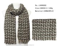 knitted football scarves fashion woman acrylic warm winter scarf european lover scarfs