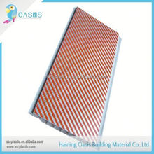 The best choice factory directly middle groove wood pvc wall panel