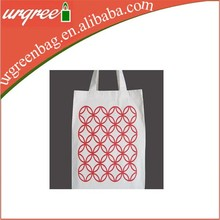 red circle pattern on 100cotton canvas tote bag for shopping