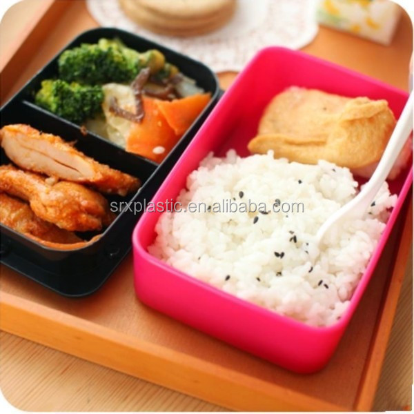 bento lunch box set with spoon food container portable. Black Bedroom Furniture Sets. Home Design Ideas