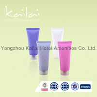Disposable Mini Hotel Shower Gel Tube/cosmetic tube for hair shampoo/Hotel amenities plastic packaging tube