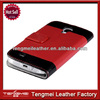 Red Wallet PU Leather Flip Cover Stand Card Case for Samsung Galaxy S4 i9500,Leather Back Cover Case For Samsung Galaxy S4
