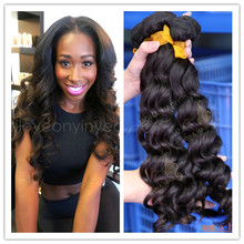 7a good quality no chemicals real brazilian hair loose wave fence post extensions