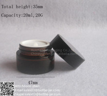 Free samples 20g amber glass cosmetic cream packaging container