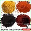 Alcance rojo pintura pigmento de óxido de hierro / sintético de hierro amarillo 313 ( ic 77492 ) para el tráfico pintura / hormigón / / de cuero / del colorante de tinte