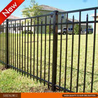 Low cost yard guard steel pipe fence panel