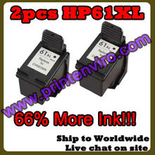 Printenviro 2pcs Remanufactured Ink Cartridges for 61XL black CH563WN