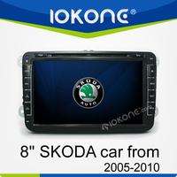 "In dash WINCE 6.0 8"" touch screen 2 din car dvd gps for skoda octavia"
