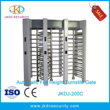 Factory price machine 90 /120 degree automatic ID card access control system full height turnstiles gate