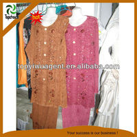 Orange and Pink color Muslim women abaya