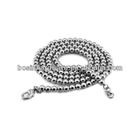 Fashion High Quality Metal Ball Chain Lobster Clasp Necklace
