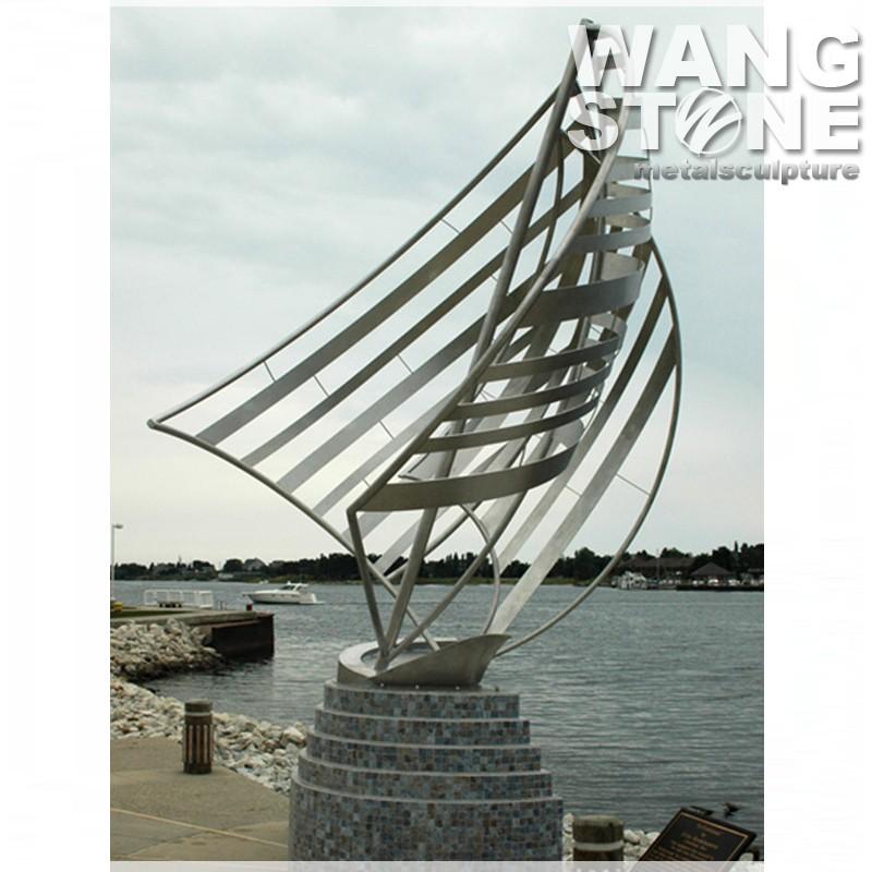 Abstrait art en m tal en plein air en acier inoxydable - Sculpture exterieure metal ...
