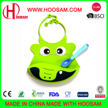 Factory Manufacturer Custom Cartoon Pattern Disposable Waterproof Silicone Baby Bib with Low price