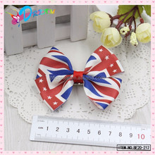 Holiday Grosgrain Ribbons USA Flag Layered Hair Bows