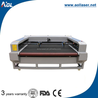 Best quality and service garment textile laser cutting machine