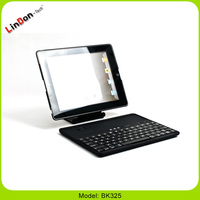 Popular ABS wireless keyboard for iPad 4 3 2 Detachable and Rotatable BK325