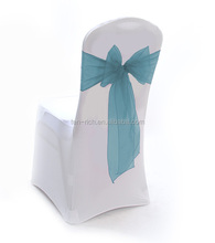 wholesale 2014 new design wedding organza chair sash europe decoration ruffle organza chair sash manufacturer