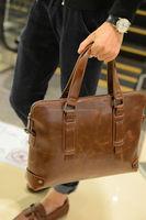 2015 Linked Fashion factory supply Laptop Leather Bag Business Handbag Shoulder Travel Messenger Bag