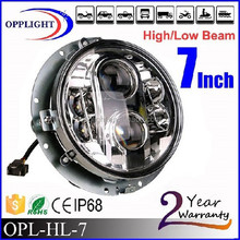 round headlight 75w with DRL 75w driving light for jeep warngler daytime running light 7'' headlight with high performance
