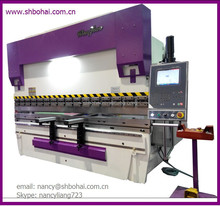Spainish Customer ordered metal sheet bending machine 6 Axes(Y1 Y2 X R,Z1 Z2)